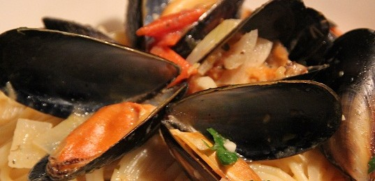 Mussels in whilte wine